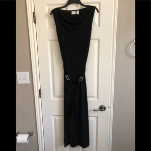 Chico's Black belted Maxi Dress NWT